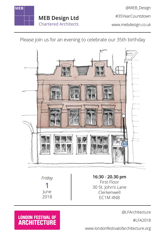 MEB Design Ltd 35th Birthday Invite