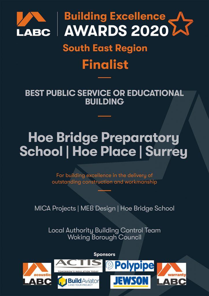 LABC Awards 2020 Hoe Bridge School